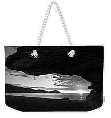 The Beach Of The Sculptures At Dawn In Almeria Weekender Tote Bag
