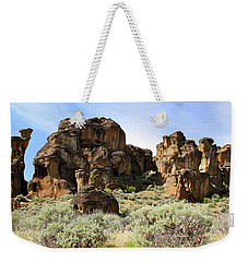 Arches Hoodoos And Castles The Big Picture Little City Of Rocks Weekender Tote Bag