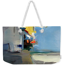 Weekender Tote Bag featuring the painting The Blue Way by John Jr Gholson