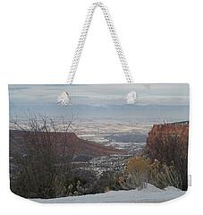 The City Below Weekender Tote Bag