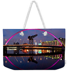 Weekender Tote Bag featuring the photograph The Clyde Arc Reflected by Stephen Taylor