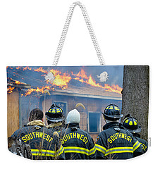 Weekender Tote Bag featuring the photograph The Crew by Carl Young