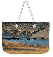 Weekender Tote Bag featuring the photograph The Crossing by Pete Federico