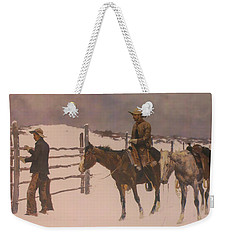 The Fall Of The Cowboy Weekender Tote Bag