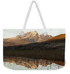 Weekender Tote Bag featuring the photograph The First Hint Of Winter At Loch Cill Chriosd by Stephen Taylor
