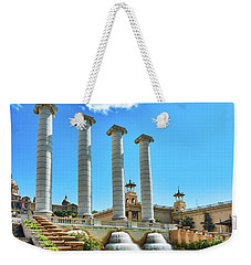 Weekender Tote Bag featuring the photograph The Four Columns And The National Art Museum In Barcelona by Eduardo Jose Accorinti