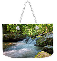 Weekender Tote Bag featuring the photograph The Gentle Stream Fall by Mark Dodd