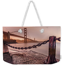 Weekender Tote Bag featuring the photograph The Golden Gate by Francisco Gomez