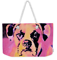 Weekender Tote Bag featuring the mixed media The Good Girl by Susan Maxwell Schmidt