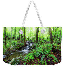 Weekender Tote Bag featuring the photograph The Green Forest by Bill Wakeley
