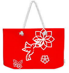 The Kissing Flower On Flower Weekender Tote Bag