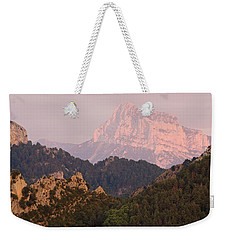 Weekender Tote Bag featuring the photograph The Last Of The Light At Pena Montanesa by Stephen Taylor