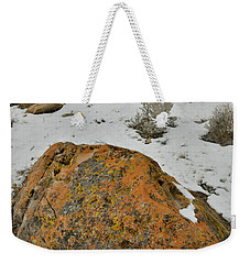 The Lichen Covered Boulders Of The Book Cliffs Weekender Tote Bag