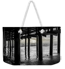 The Light Downunder - B And W Weekender Tote Bag