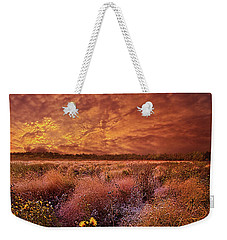 Weekender Tote Bag featuring the photograph The Light So Softly Spoken by Phil Koch