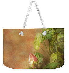 Weekender Tote Bag featuring the photograph The Lovely Rose by Mike Savad - Abbie Shores