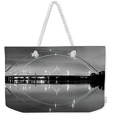 Weekender Tote Bag featuring the photograph The Margaret Mcdermott Bridge by Robert Bellomy