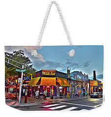 The Middle East In Cambridge Central Square Dusk Weekender Tote Bag