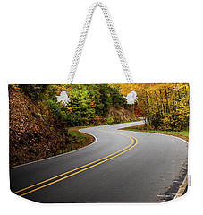 Weekender Tote Bag featuring the photograph The Mountain Road by Chrystal Mimbs
