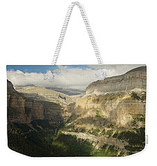 Weekender Tote Bag featuring the photograph The Ordesa Valley by Stephen Taylor