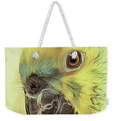 Weekender Tote Bag featuring the photograph The Parrot Sketch by Leigh Kemp