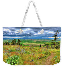 Weekender Tote Bag featuring the photograph The Path Down Kamiak Butte by David Patterson