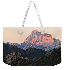 Weekender Tote Bag featuring the photograph The Pena Montanesa by Stephen Taylor