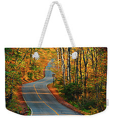 Weekender Tote Bag featuring the photograph The Road Up Mount Greylock by Raymond Salani III