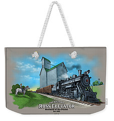 The Ross Elevator Sentinel Of The Plains Weekender Tote Bag