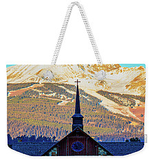 Weekender Tote Bag featuring the photograph The Soldiers Chapel by Pete Federico