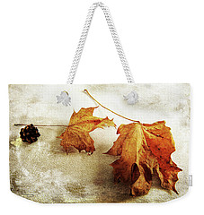 Weekender Tote Bag featuring the photograph The Sound Of Autumn by Randi Grace Nilsberg