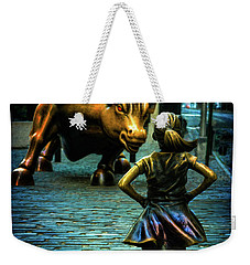 Weekender Tote Bag featuring the photograph The Standoff by Chris Lord