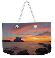 The Sunset On The Island Of Es Vedra, Ibiza Weekender Tote Bag