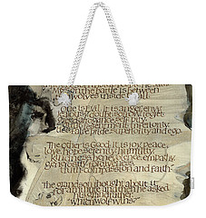 The Tale Of Two Wolves Weekender Tote Bag