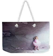 Weekender Tote Bag featuring the mixed media Pink Tutu by Susan Maxwell Schmidt