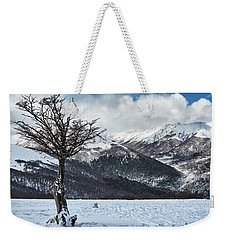 The Tree And The Beautiful Snowy Paradise Weekender Tote Bag