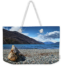 The Trunk, The Lake And The Mountainous Landscape Weekender Tote Bag