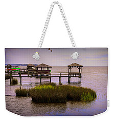 The Waterfront At Duck  Weekender Tote Bag