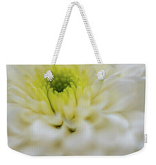 Weekender Tote Bag featuring the photograph The White Flower by Francisco Gomez