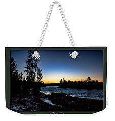 Weekender Tote Bag featuring the photograph The Yellowstone River by Pete Federico