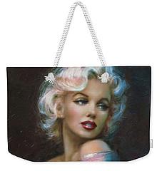 Theo's Marilyn Ww Blue Weekender Tote Bag