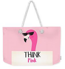Think Pink - Baby Room Nursery Art Poster Print Weekender Tote Bag