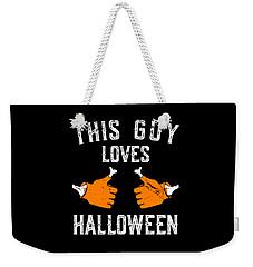 This Guy Loves Halloween Weekender Tote Bag