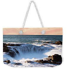 Weekender Tote Bag featuring the photograph Thor's Well Sunset 1115 by Rospotte Photography