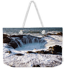Weekender Tote Bag featuring the photograph Thor's Well Yachats Oregon 102518 by Rospotte Photography