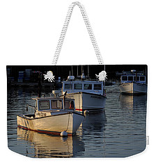 Three Boats In Maine Weekender Tote Bag