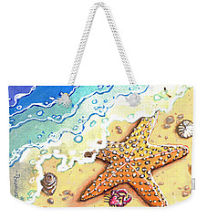 Tidal Beach Starfish Weekender Tote Bag