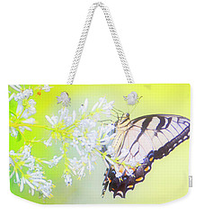 Tiger Swallowtail Butterfly On Privet Flowers Weekender Tote Bag