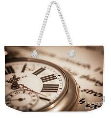 Time And Words Weekender Tote Bag