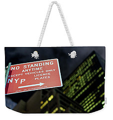 Weekender Tote Bag featuring the photograph Times Square by Steve Stanger